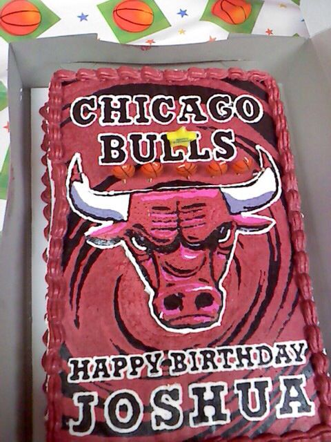 Chicago Bulls cake for my nephew's birthday.