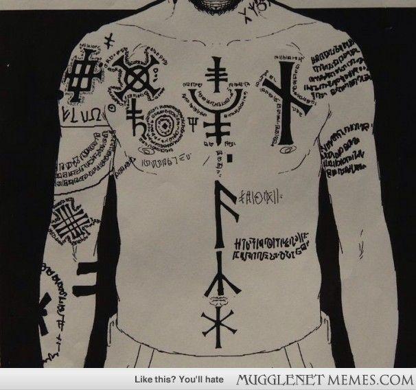 What do Sirius Black's tattoos mean?!