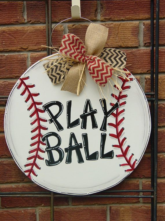 Large 20 Baseball or Softball Wood Door by AngelenesCollection                                                                                                                                                                                 More