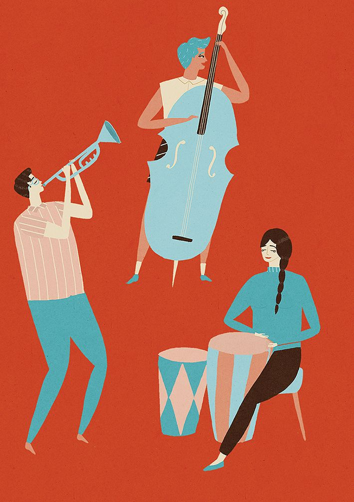Naomi Wilkinson Illustration #music #jazz