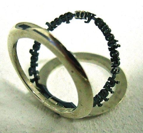 Jonathan Boyd: I Prefer to Keep My Emotions Secret, silver ring #rings