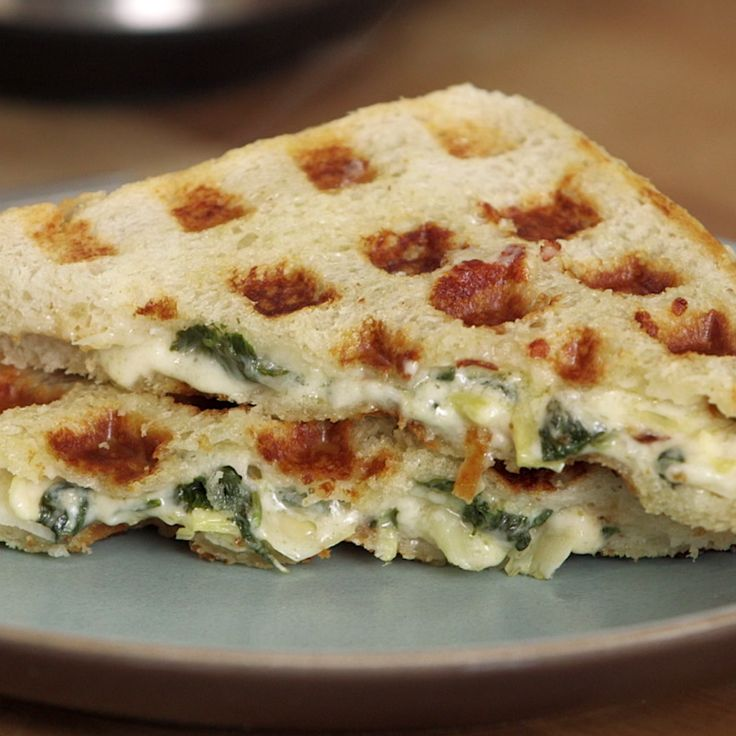 The tastiest way to eat your greens is by stuffing them into a buttery, cheesy sandwich.