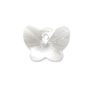 Swarovski® 18mm crystal clear butterfly pendant pk1