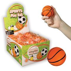 2 and a Half Inch Basketball Shaped Stress Balls from Windy City Novelties $10.70 per dozen