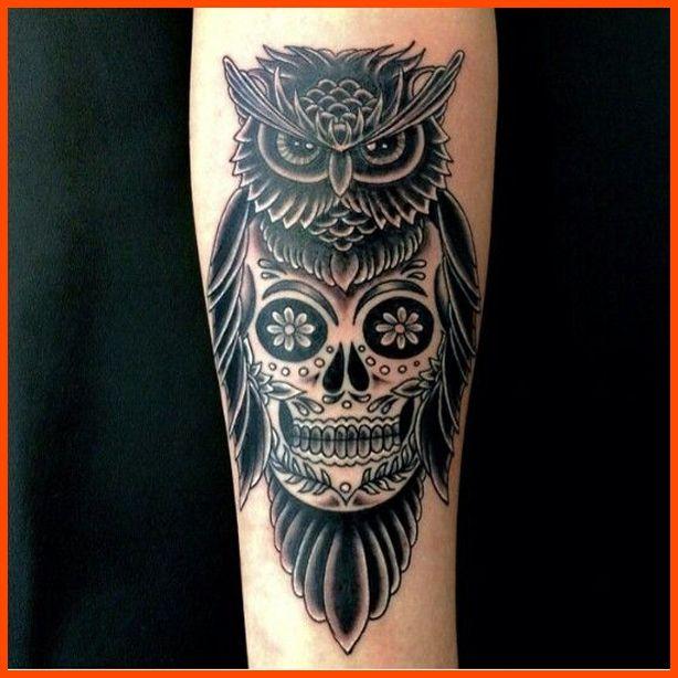 Best Sugar Skull Owl Tattoo