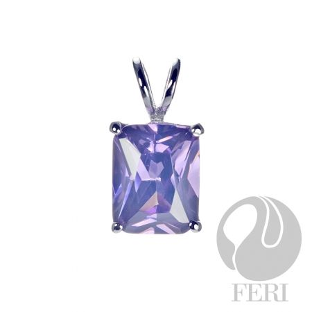 Mulberry Bloom Pendant. $88. Sterling Silver set with AAA white and amethyst cubic zirconia