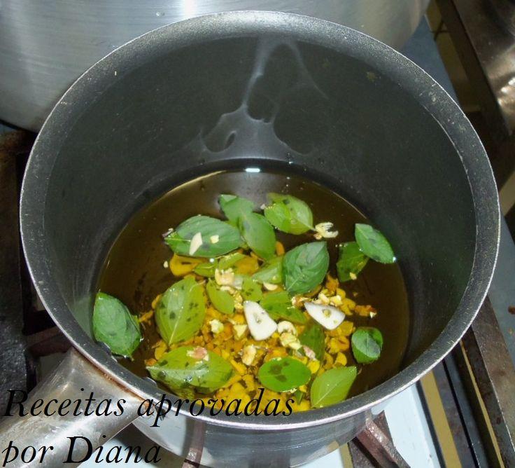 Azeite aromatizado ao pesto