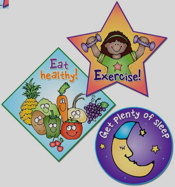 These Stickers Remind Kids About Good Healthy Habits Healthy Habits Clipart Free Healthy Kids Kids Health Free Clip Art