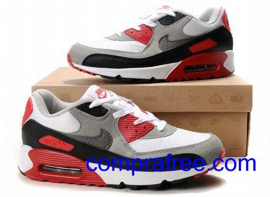 Comprar baratos mujer Nike Air Max 90 Zapatillas (color:rojo,negro,blanco) en linea en Espana.