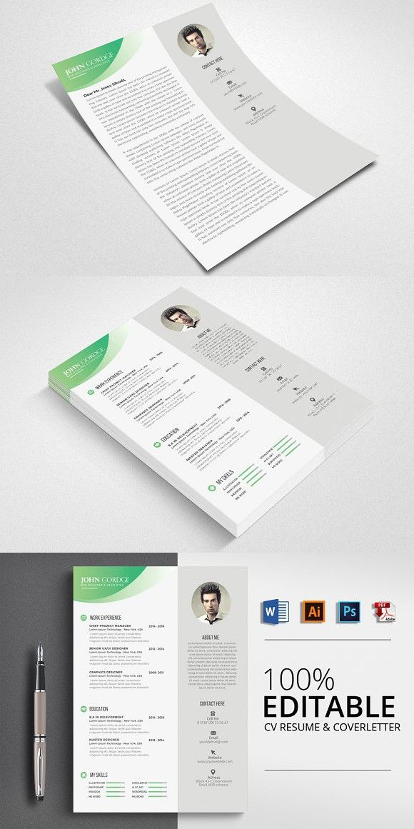 Professional CV Resume Word Stationery Templates Pinterest - resume or word