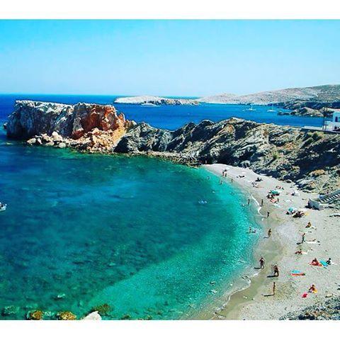 Vardia Bay #beach on #Folegndros! Photo credits: @taxidia_eikones