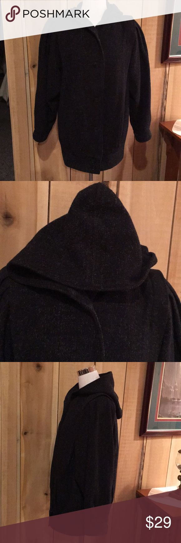 """West side Connection Women's Pea Jacket Coat Good preowned condition Black with specks. Lined Wool Blend.  Sleeves: 25"""" Armpit to Armpit 24"""" Across the Shoulder: 16"""" Length: 29"""" Westside Collection Jackets & Coats Pea Coats"""