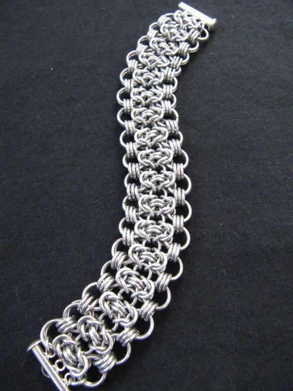 Silver Chainmaille Bracelet by Nett15