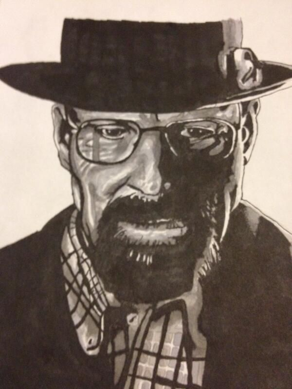 Breaking Bad. One of my all time favourite TV programs. Drawing I did of Walter White/Heisenberg.