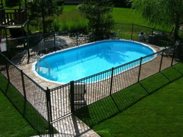 Radiant Inground Oval Pool Available Sizes 12 X 16 12 X 20 16 X 24 16 X 28 16 X 32 1 Inground Pool Landscaping Affordable Inground Pools Radiant Pools