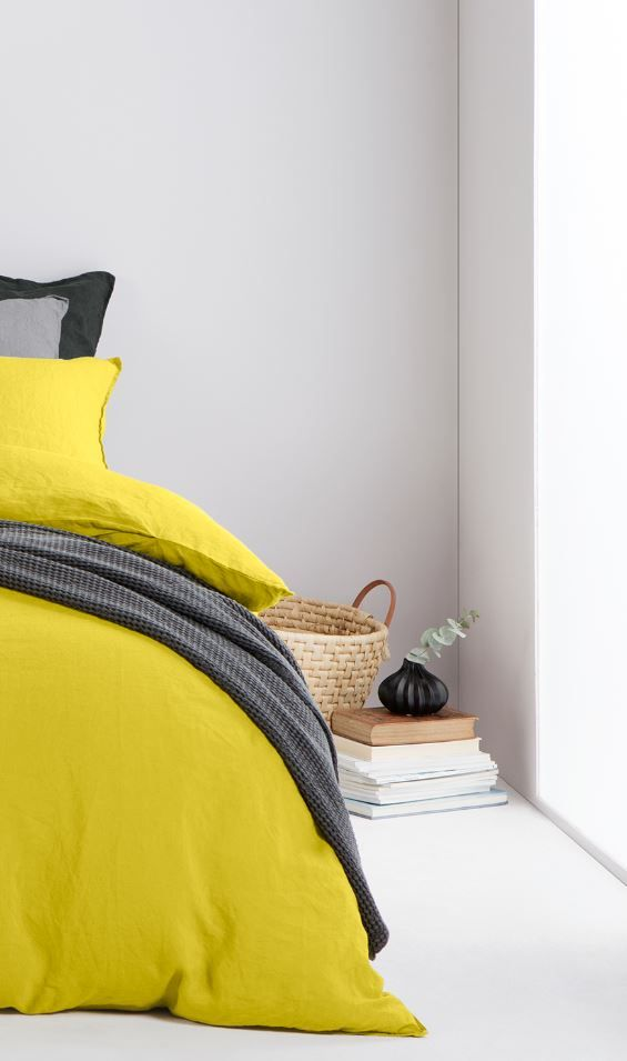Chartreuse bed linen, MADE.COM Effortless and understated, it's no wonder…