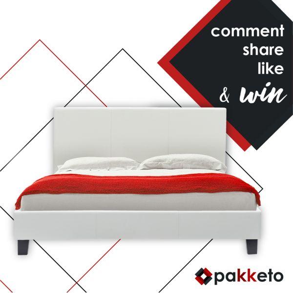Ποιος θα κερδίσει το διπλό κρεβάτι «Nevil» της φωτογραφίας;  Για να πάρεις μέρος στον διαγωνισμό, κάνε α) Like στο page Pakketo αν δεν έχεις κάνει, β) share το post του διαγωνισμού και  γ) comment με hashtag το #myNevil [Μετά από κλήρωση θα αναδειχθεί ένας τυχερός. Ο διαγωνισμός ολοκληρώνεται 09/04/2017]