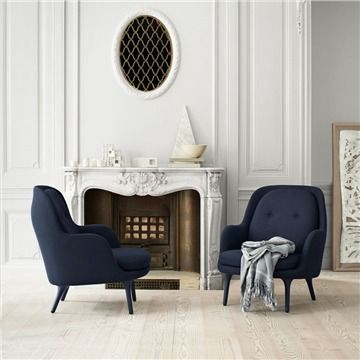 Fritz Hansen FRI Easy Chair - Style # JH4, Modern Armchair - Contemporary Armchair - Leather Armchair - Swivel Armchair | SwitchModern.com