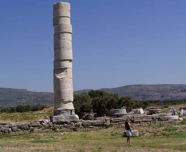 One remaining column of the temple of Hera