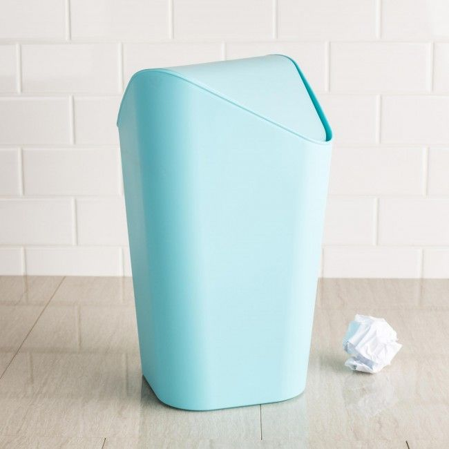 Perfect for the small office or modern bathroom, the Umbra Corner Swing Garbage Can is your choice elegance and functionality.
