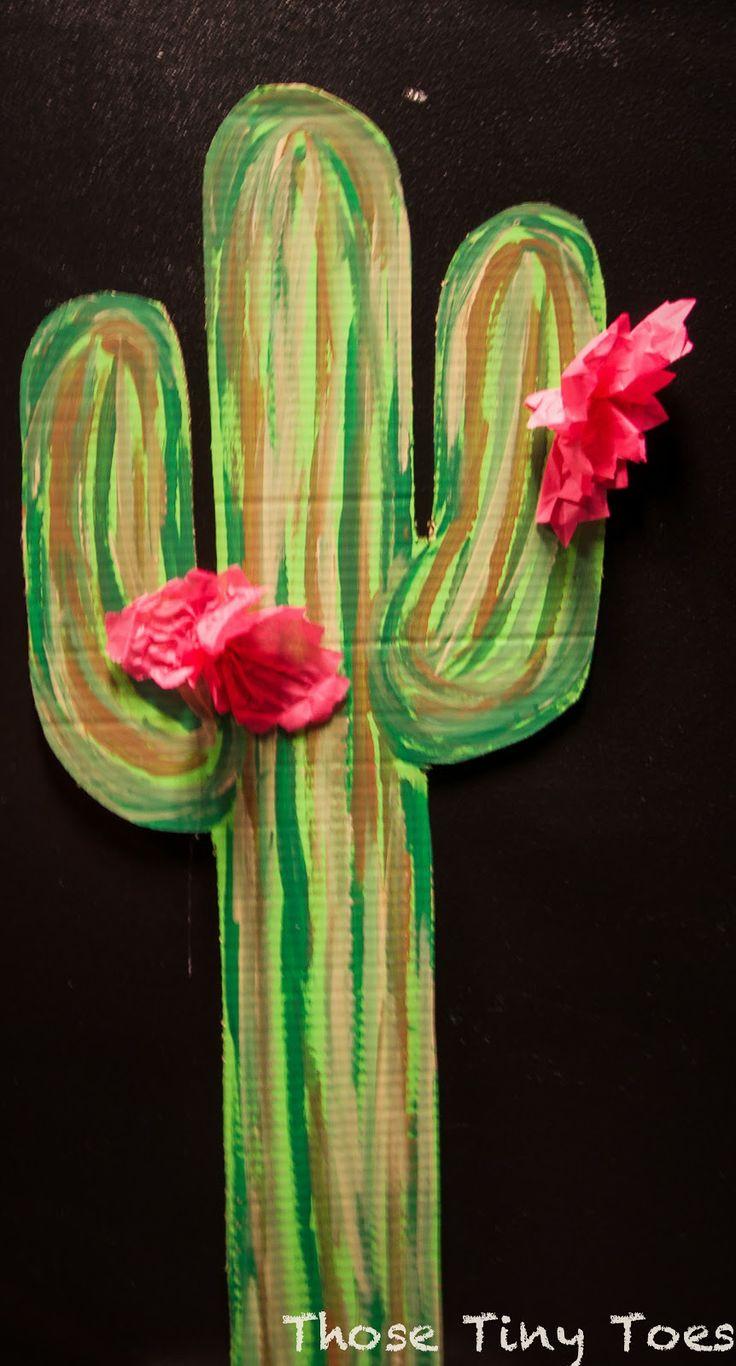 painted cardboard cactus
