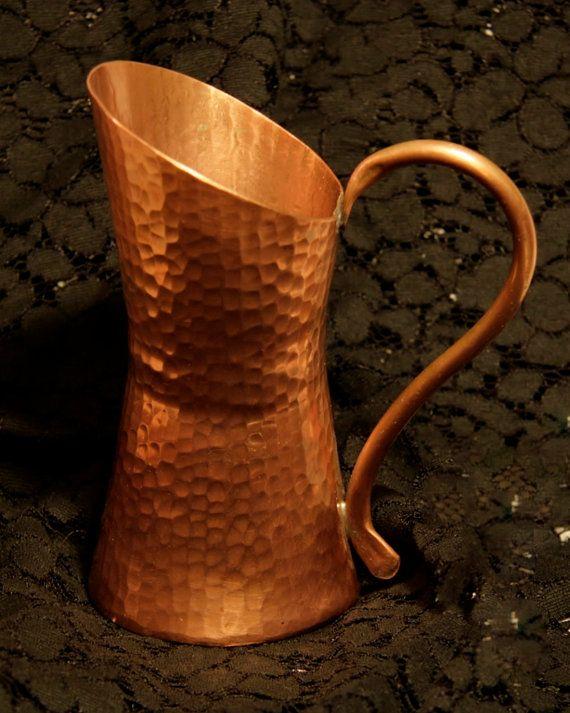 Australian Handmade Hammered Copper Pitcher