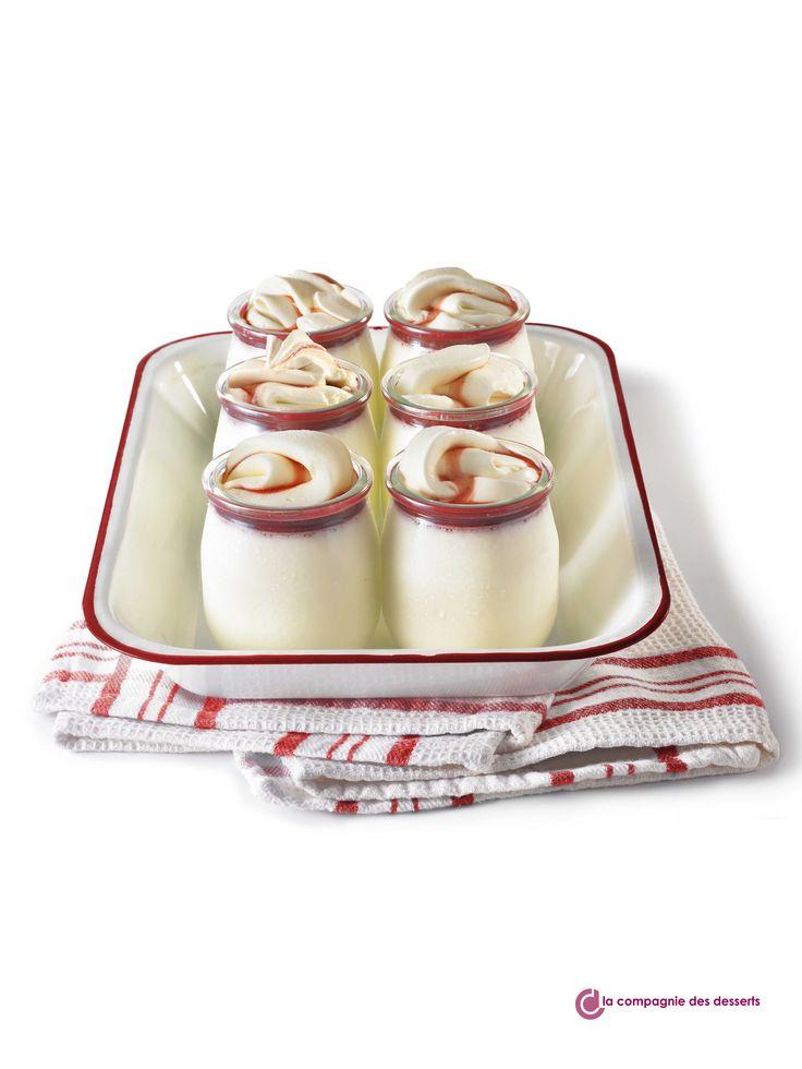 Photo du mois de mars 2016 ! Des crèmes glacées dans des pots de yaourts, une idée de présentation de desserts