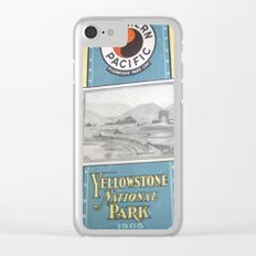 Yellowstone Northern Pacific Rail Time Table Clear iPhone Case