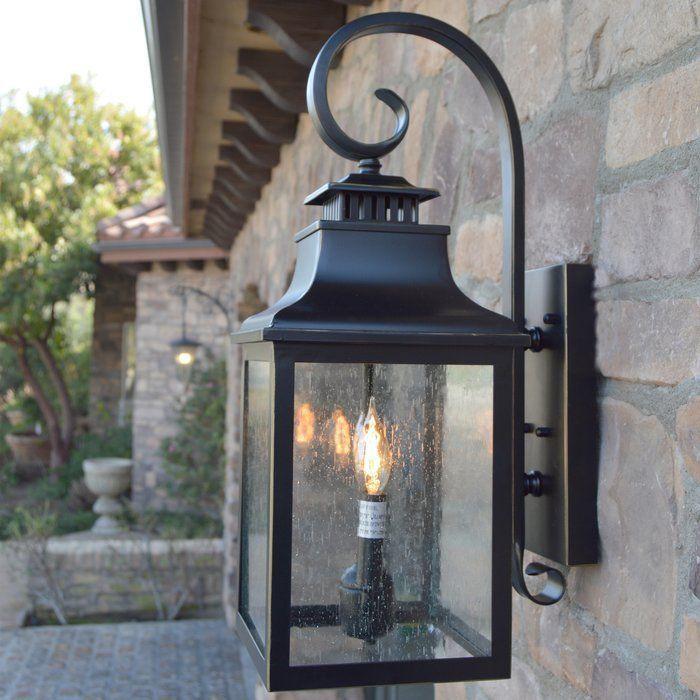 Wolcott 2 Light Led Outdoor Wall Lantern In 2020 Outdoor Wall