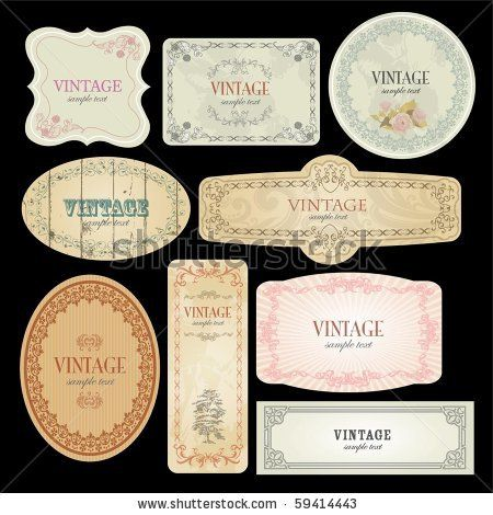 Label Template | Vector Labels Template - 59414443 : Shutterstock