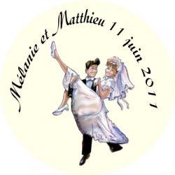etiquettes drages autocollante couple maris personnalises mariage x30 - Tiquettes Personnalises Drages Mariage