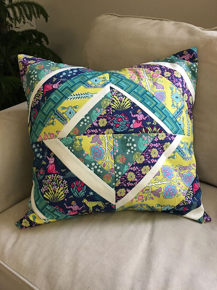 Splendor by Amy Butler- Patchwork Pillow Project created by Heather Jones Studio