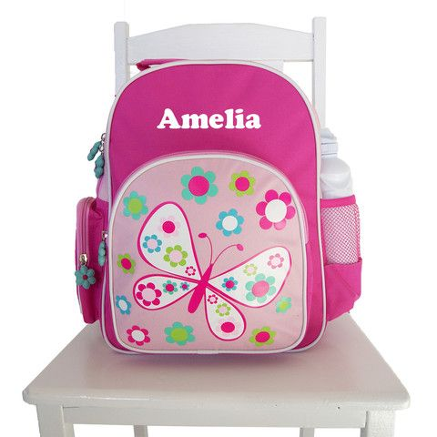 Personalised Preschool Back Pack Butterfly Pink
