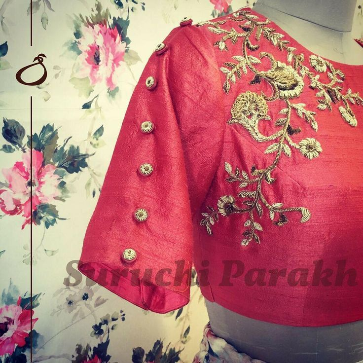 Focusing of the minutest details and designing something new is what Suruchi as a team focus on. Trendy designer blouse with floret lata design hand embroidery thread work. 03 December 2017