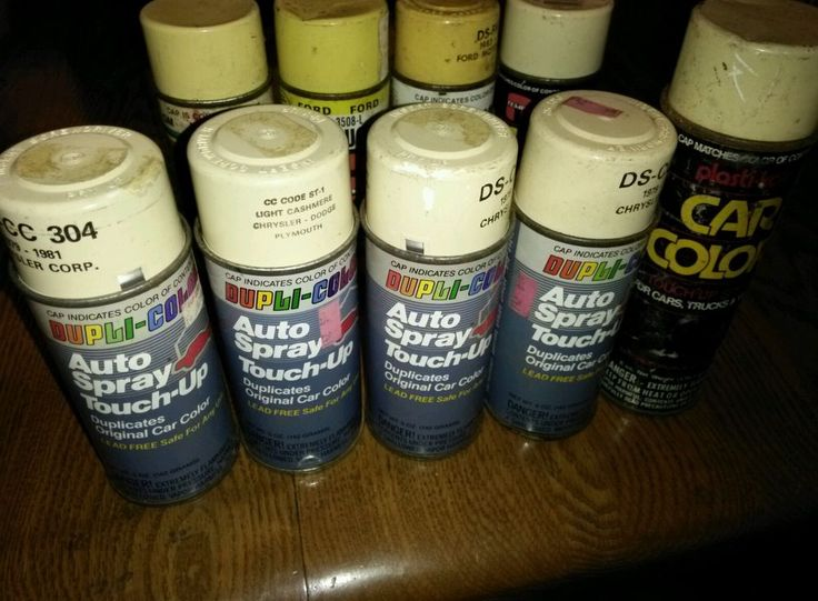 lot of vintage dupli-color spray touch-up tin can #DUPLICOLOR