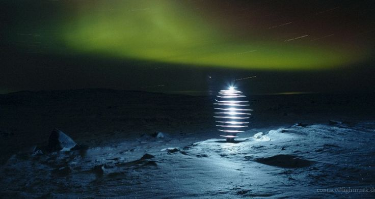 Norway #aurora painting with #light photograph from Lightmark.