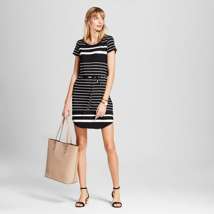 Women's Striped T-Shirt Dress