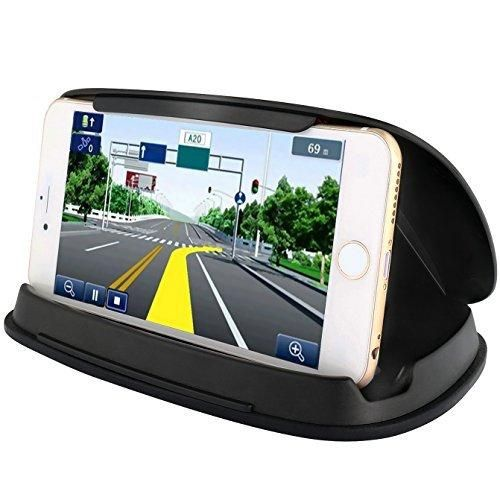 Cell Phone Holder for Car Car Phone Mounts for iPhone 7 Plus Dashboard GPS Holder Mounting in Vehicle for Samsung Galaxy S8 and other 3-6.8 Inch Universal Smartphones and GPS - Black