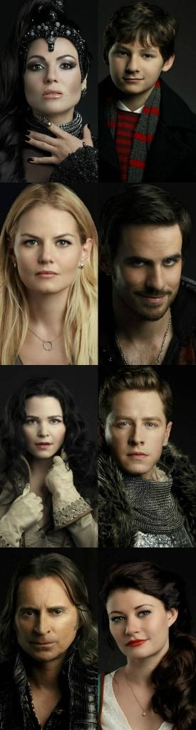 New Cast Promotional Stills:The Evil Queen, Henry, Emma, Captain Hook, Snow White, Prince Charming, Rumolestiltskin and Belle.