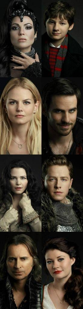 New Cast Promotional Stills:The Evil Queen, Henry, Emma, Captain Hook, Snow White, Prince Charming, Rumolestiltskin and Belle.
