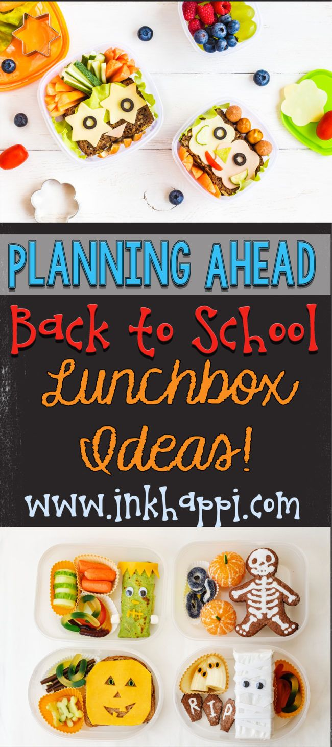 Lots of lunchbox ideas and tips for planning ahead that make school lunches easier