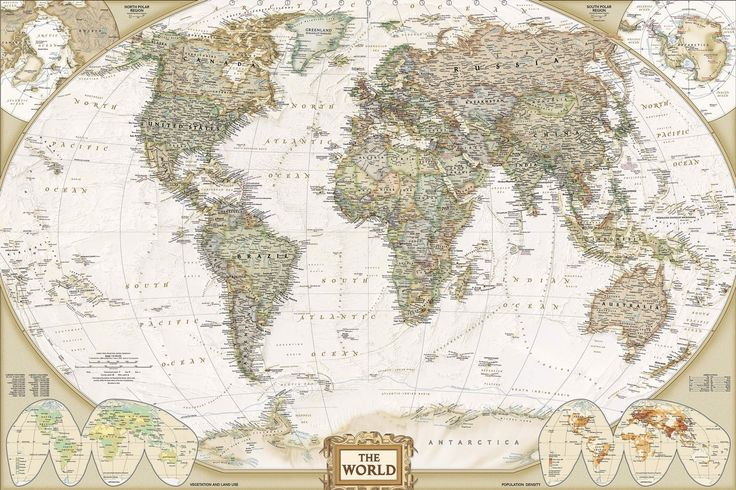 Traditional Old Style World Map Mural, custom made to suit your wall size by the UK's No.1 for murals. Custom design service and express delivery available.