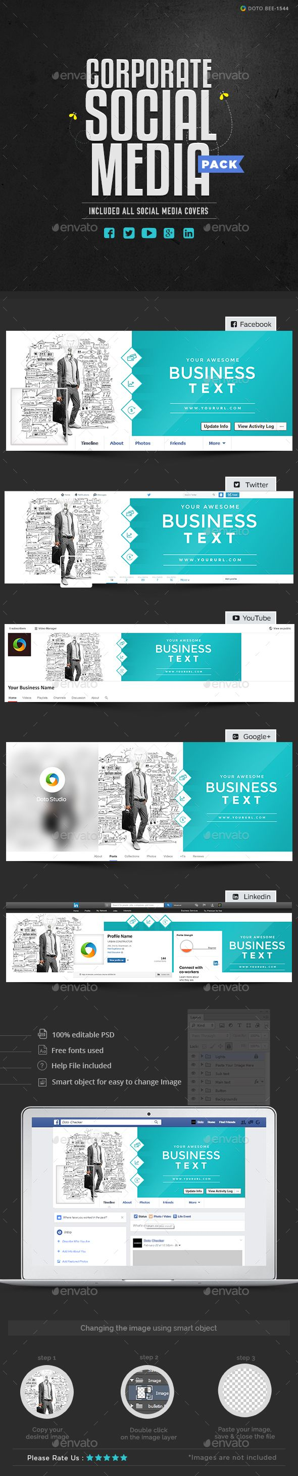 65 best social media package images on pinterest font logo corporate social media pack wajeb Choice Image