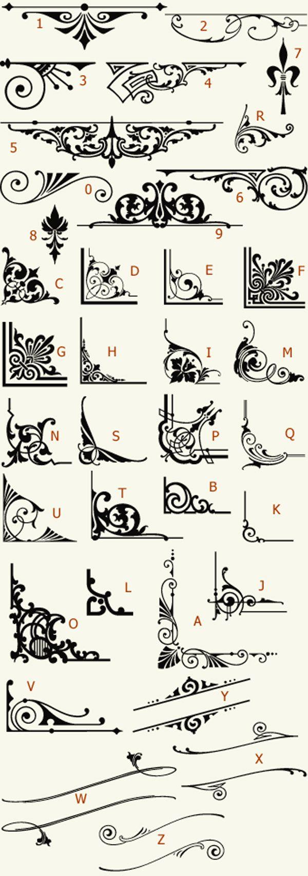 Americana Ornaments by Mike Jackson     http://www.letterheadfonts.com/fonts/americanaornaments.php