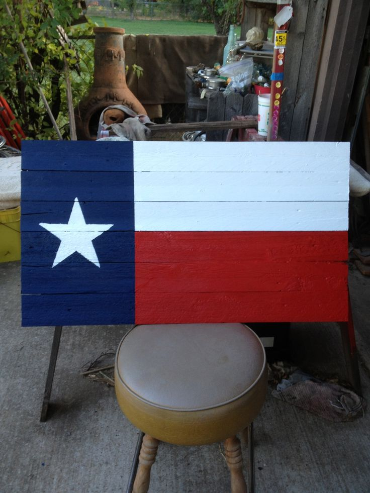 Texas Flag From Old Fence Panel Slats Easy Crafts