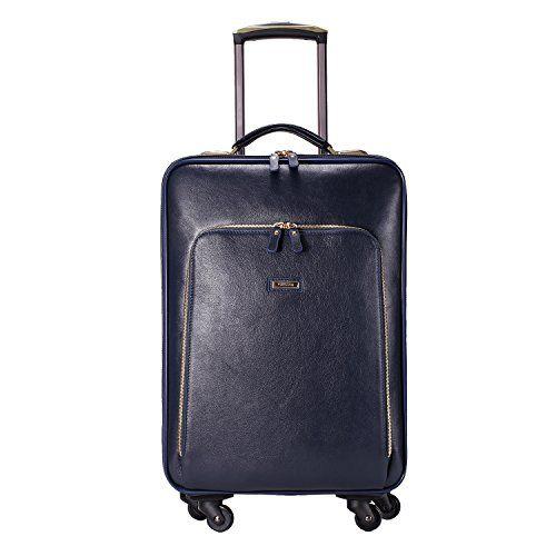 Large Generic Leather Rolling Travel Suitcase Wheeled Duf…