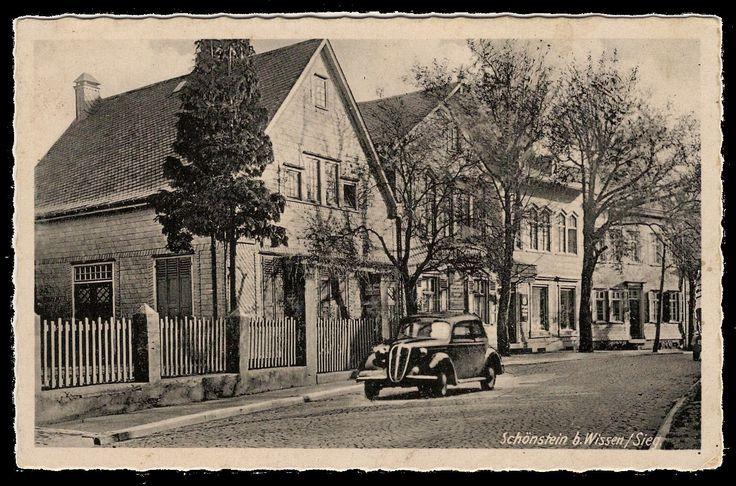 """Schönstein - Gasthof Heckenbücker """"Zum Schloß Schönstein"""" - Ende 1930er, Anfang 1940er Jahre"""