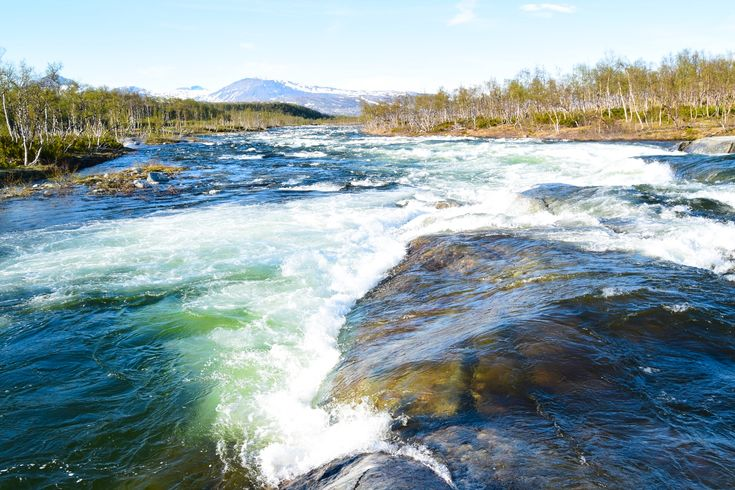 The river Lønselva that goes through Saltfjellet in Norway