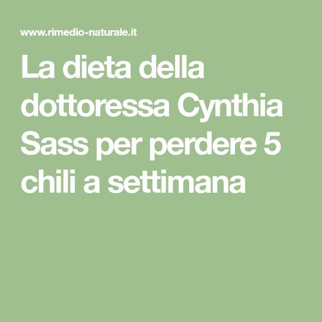 La dieta della dottoressa Cynthia Sass per perdere 5 chili a settimana