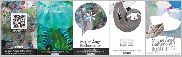 Muestras de diseño de tarjetas de presentación by MiguelBethencourt, via Flickr